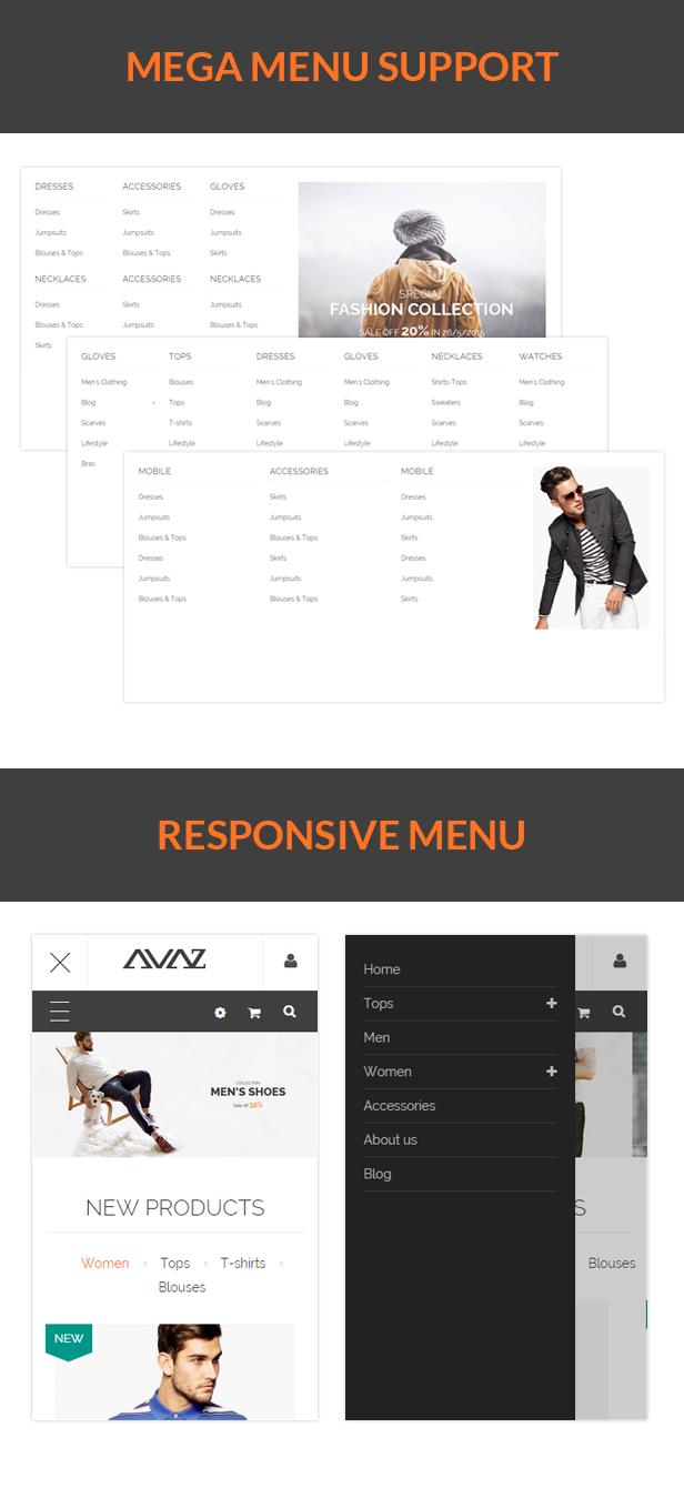 SNS Avaz - Responsive Prestashop Theme