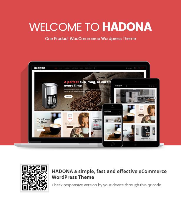 Hadona - One Product, WooCommerce WordPress Theme - 1