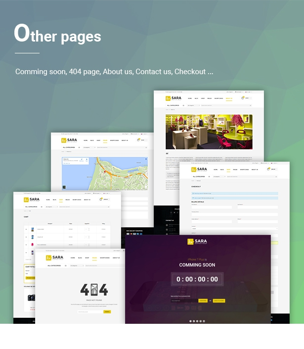Sara - WooCommerce WordPress Market Theme - 8  Download Sara – WooCommerce WordPress Market Theme nulled 08 otherPages