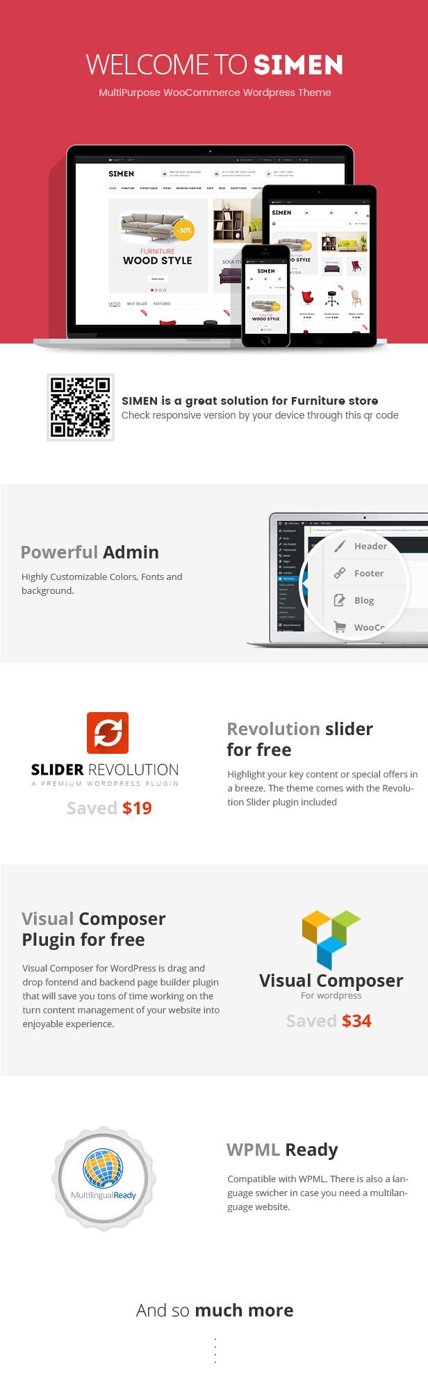 Simen - MultiPurpose WooCommerce WordPress Theme - 1